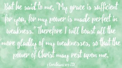 2 Cor 12-9